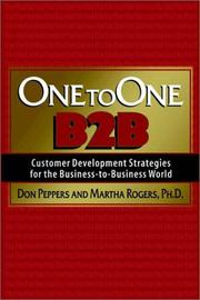 Cover of: One to One B2B