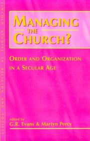 Cover of: Managing the church?