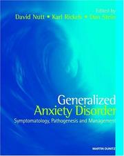 Cover of: Generalized Anxiety Disorder