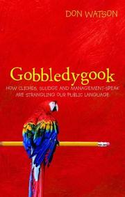 Cover of: Gobbledygook