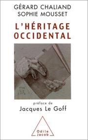 Cover of: L'Héritage occidental