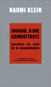 Cover of: Journal d'une combattante