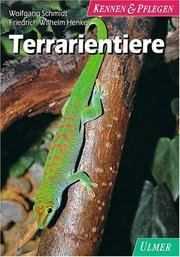 Cover of: Terrarientiere.