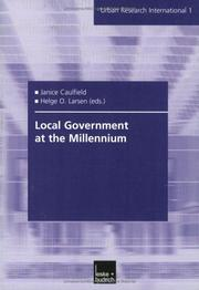 Cover of: Local Government at the Millenium