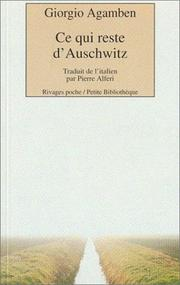 Cover of: Ce qui reste d'Auschwitz