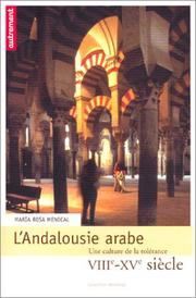 Cover of: L'Andalousie arabe