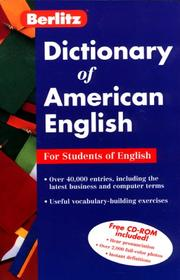 Cover of: Dictionary of American English
