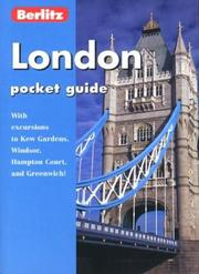 Cover of: London Pocket Guide (Berlitz Pocket Guides)