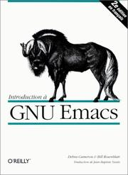 Cover of: Introduction à GNU Emacs