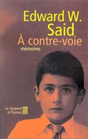 Cover of: A contre-voie: Mémoires