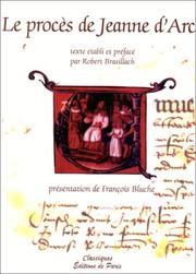 Cover of: Le procès de Jeanne d'Arc