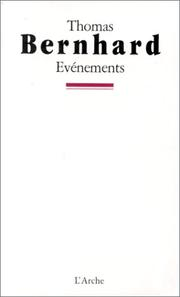 Cover of: Evénements