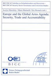 Cover of: Europe and the global arms agenda