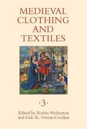 Cover of: Medieval clothing and textiles