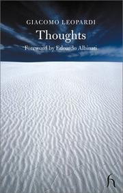 Cover of: Thoughts: and, The broom [or The flower of the desert]