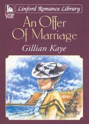 Cover of: An Offer of Marriage (Linford Romance)