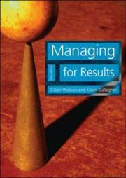 Cover of: Managing for Results