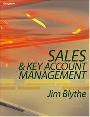 Cover of: Sales & Key Account Management