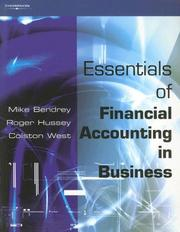 Cover of: Essentials of Financial Accounting in Business