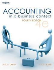 Cover of: Accounting in a Business Context