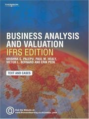 Cover of: Business Analysis and Valuation: Using Financial Statements