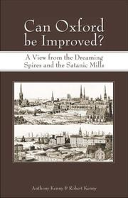 Cover of: Can Oxford Be Improved?