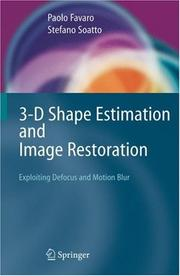 Cover of: 3-D Shape Estimation and Image Restoration