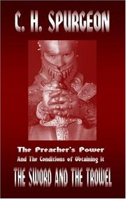 Cover of: The Preacher's Power and the Conditions of Obtaining it (The Sword and the Trowel)