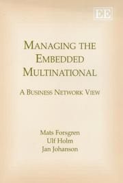 Cover of: Managing the Embedded Multinationals