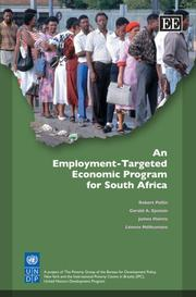 Cover of: An Employment-Targeted Economic Program for South Africa