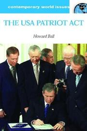 Cover of: The USA Patriot Act