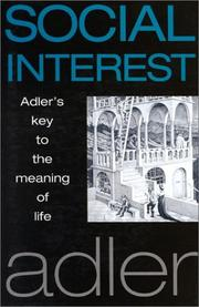 Cover of: Social interest: a challenge to mankind.