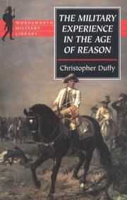 Cover of: Military Experience in the Age of Reason (Wordsworth Military Library)