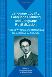 Cover of: Language Loyalty, Language Planning, And Language Revitalization