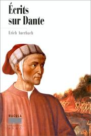 Cover of: Ecrits sur Dante
