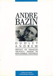 Cover of: André Bazin