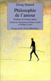 Cover of: Philosophie de l'amour