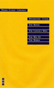 Cover of: Restoration Comedy (Drama Classic: Collections S.)