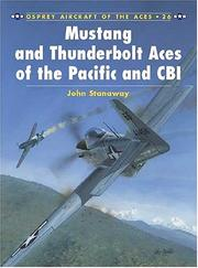 Cover of: Mustang and Thunderbolt Aces of the Pacific and CBI