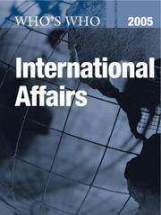 Cover of: Who's Who in International Affairs 2005 (Who's Who in International Affairs)