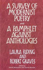 Cover of: A Survey of Modernist Poetry and a Pamphlet Against Anthologies