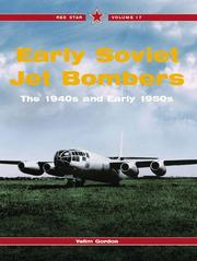 Cover of: Early Soviet Jet Bombers -Red Star Volume 17 (Red Star)
