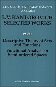 Cover of: Descriptive Theory of Sets and Functions. Functional Analysis in Semi-ordered Spaces (Classics of Soviet Mathematics)