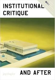 Cover of: Institutional Critique and After (Soccas Symposia)