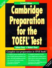 Cover of: Cambridge Preparation for the TOEFL Test, 2nd ed., Course Book