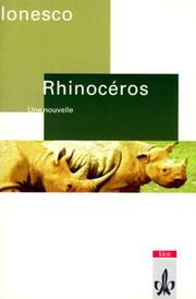 Cover of: Rinoceros. Texte et documents. (Lernmaterialien)