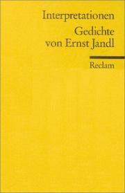Cover of: Interpretationen. Gedichte von Ernst Jandl.