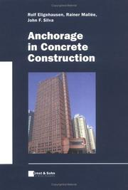 Cover of: Anchorage in Concrete Construction