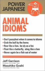 Cover of: Animal Idioms (Power Japanese)