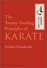 Cover of: The Twenty Guiding Principles of Karate